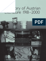 A History of Austrian Literature 1918 2000 Studies in German Literature Linguistics and Cultur