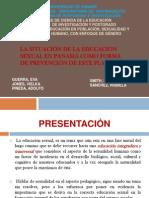 SITUACIÓN DE LA EDUCACIÓN SEXUAL EN PANAMÁ