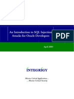 Integrigy Intro to SQL Injection Attacks