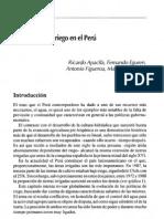 Las Politicas de Riego en El Peru