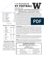 Washington game notes