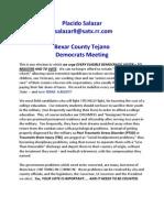 Bexar County Tejano Democrats Meeting