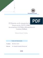 El Ejercito en La Transicion Hacia La Democracia 19751982 Acercamiento a La Politica Reformadora de Gutierrez Mellado 0