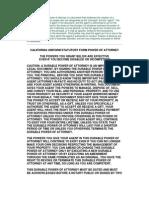 California Uniform Statutory Form Power of Attorney _Immediate Download at www.gazhoo.com