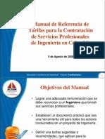 Manual de Tarifas de Ingeniería 2008