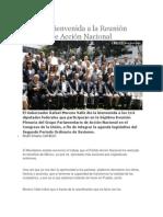 24-08-2013 Diario Matutino Cambio - RMV da bienvenida a la Reunión Plenaria de Acción Nacional