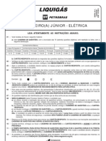 PROVA 15 - ENGENHEIRO(A) JÚNIOR - ELÉTRICA