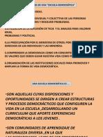 ESCUELAS DEMOCRÁTICAS