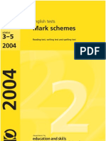 2004 Mark Scheme English
