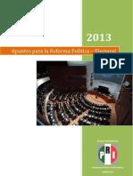 26-08-13 Apuntes Reforma Política Electoral AGOSTO2013