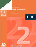 2004 Science Mark Scheme
