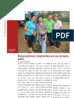 Educadores migrantes en su propio país