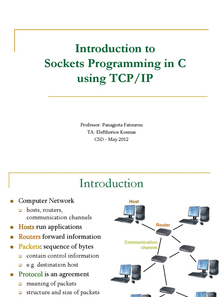TCP/IP Sockets in C | Port (Computer Networking) | Internet