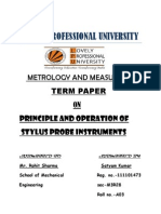 Principle and Operation of Stylus and Probe Instruments