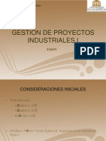 Gestion de Proyectos Industriales I