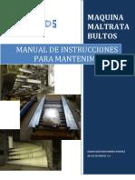 Manual de Instrucciones Para Mantenimiento