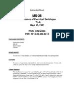 MS-28 Maintenance of Electrical Switchgear 5-11 (621 KB)