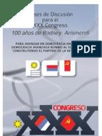 Bases de discusión XXX Congreso PCU
