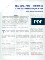 Dementia Care 1 Guidance Assessment