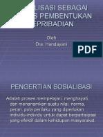 Sosialisasi Sebagai Proses Pembentukan Kepribadian