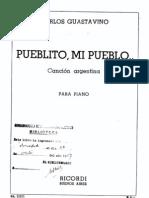 Guastavino - Pueblito, Mi Pueblo - Cancion Argentina