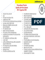 List Perusahaan JakartaSMESCO Agustus