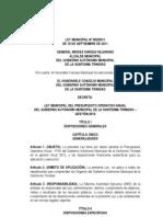 LEY MUNICIPAL Nº 002 (POA 2012 GAMST.15.09.2011) SANCIONADA.pdf