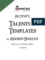 Fictives Talents and Templates 20122