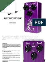 Suhr Riot Distortion User Manual