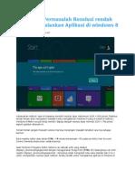Mengatasi Permasalahan Resolusi Rendah Untuk Menjalankan Aplikasi Di Windows 8