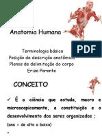 ANATOMIA- Conceitos e Terminologia