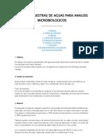 Toma de Muestras de Aguas Para Analisis Microbiologicos