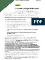 DOCUMENTAÇÃO PASSAPORTE