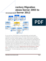 Active Directory Migration From Windows Server 2003 to Windows Server 2012