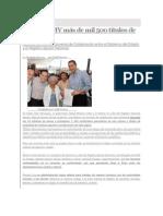 22-08-2013 Sexenio Puebla - Entrega RMV más de mil 500 títulos de propiedad