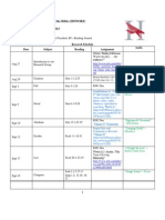 rel 105 honors schedule - with music