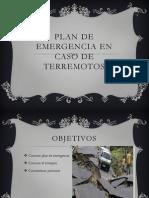 Plan de Emergencia en Caso de Terremotos
