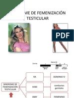 SINDROME DE FEMENIZACIÓN TESTICULAR