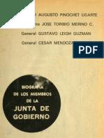 Biografía de los Miembros de la Junta de Gobierno (Ministerio de Educación Pública)