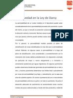 Consulta Ley de Darcy Efecto Gravedad