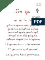 Metodo de Lectoescritura Letra Ge Gi