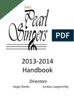 2013-2014 Pearl Singers Handbook