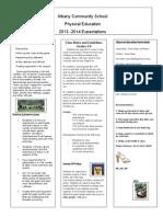 Albany PE Letter 2013