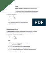 Ecuacion de Bazin , Kutter y Gaukler