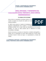 CORRIENTES, ENFOQUES, Y PARADIGMAS DEL PENSAMIENTO SOCIAL POSITIVISTA, SOCIO-CRITICO, FENOMENOLÓGICO Copy