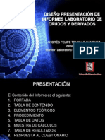 DISEÑO PRESENTACIÓN DE INFORMES