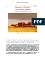 Apuntes Geologicos, Botanicos, Antropologicos Region Tarapaca, Atacama, Chile