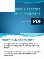 Principle &Practice of Management