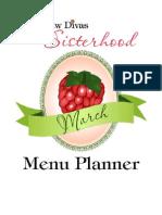 March Green Menu Planner