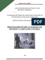 Manual Procesamiento Del Lugar de Los Hechos y Cadena de Custodia